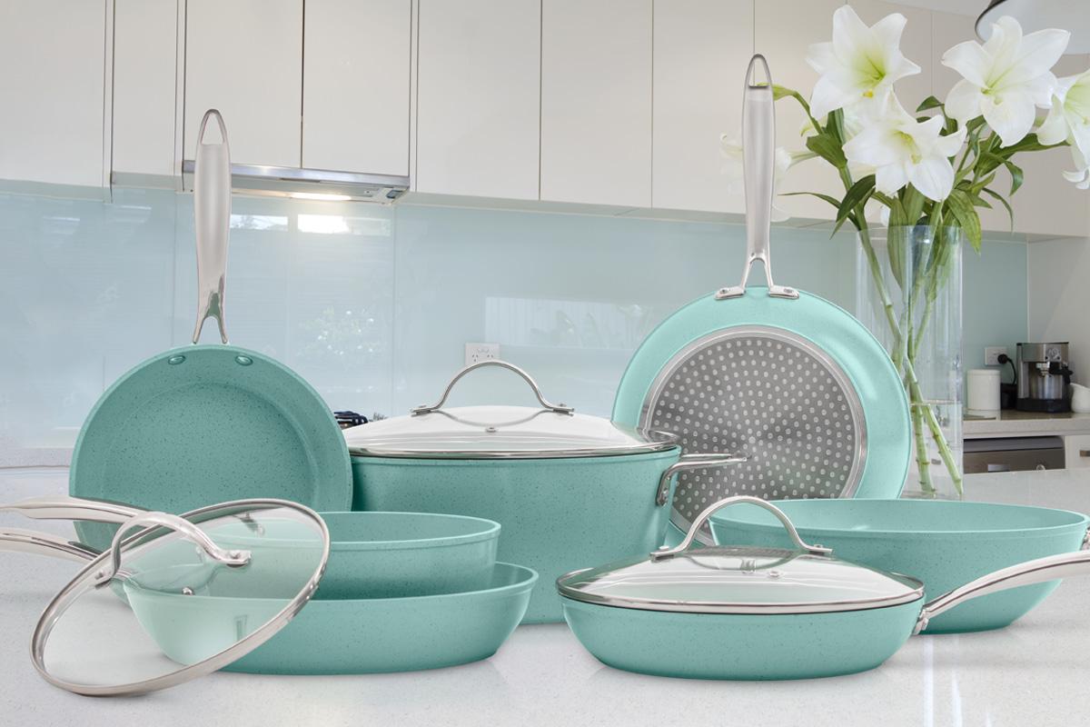 Jade Cook tiene la línea de utensilios de cocina con la más alta tecnología antiadherente.